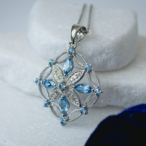 Elsa Blue Topaz Necklace