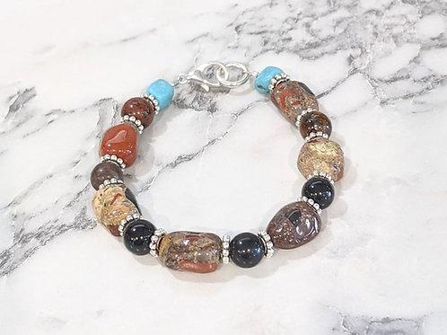 Pudding Stone & Howlite Bracelet