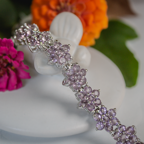 Amethyst Flower Bracelet