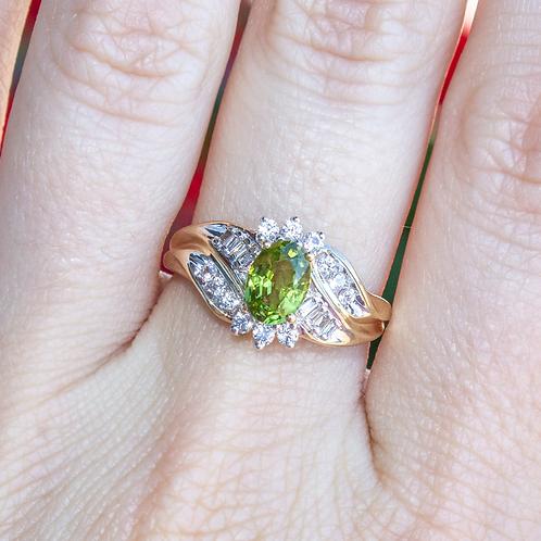 Cyrillia Peridot Ring