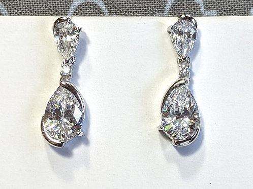 Sita Sterling Silver CZ Earrings