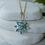 Thumbnail: Floral Blue Topaz Necklace