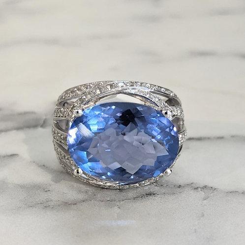 Blue Fluorite Ring