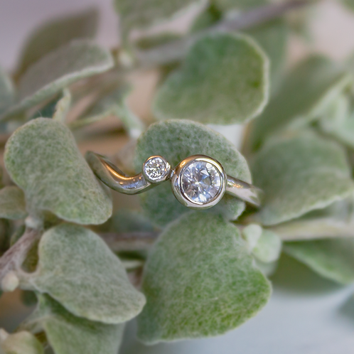 White Topaz Ring by A. Neal