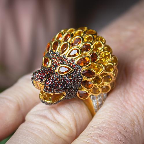 Lion Citrine Ring