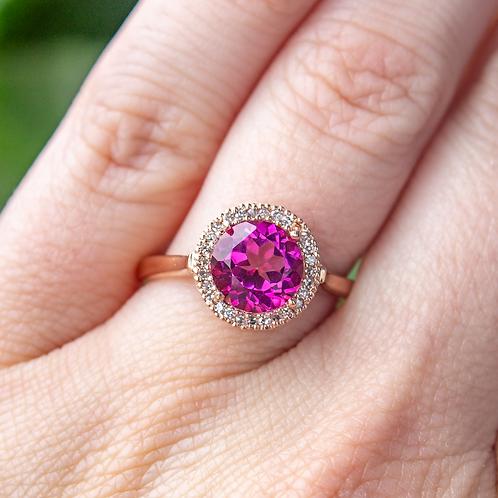 Callista Pink Topaz Ring