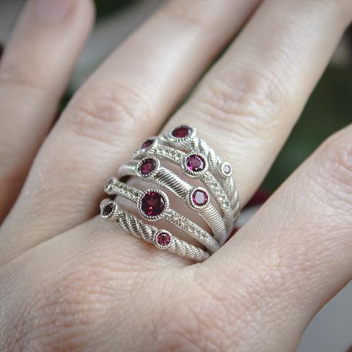 Grape Garnet Wrap Ring