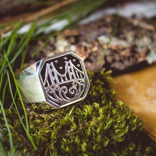 Bridge Sterling Silver Ring