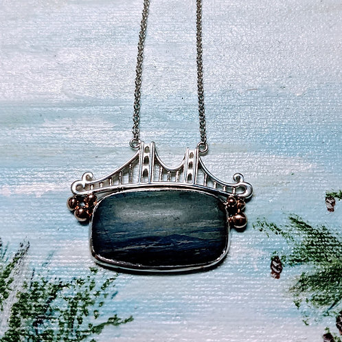 Rectangle Leland Blue Bridge Necklace