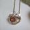 Thumbnail: Small Pudding stone Bridge Necklace