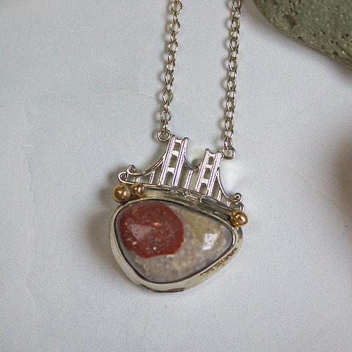 Small Pudding stone Bridge Necklace