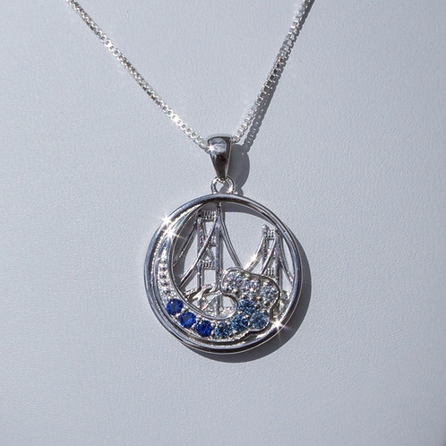 Mackinac Bridge Wave Pendant