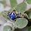 Thumbnail: Lab-Created Blue Sapphire Ring