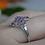 Thumbnail: Floral Amethyst Ring