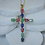 Thumbnail: Gemstone Cross Necklace