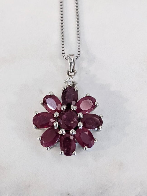 Ruby Floral Necklace