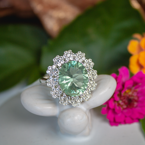 6ct Green Flourite Ring