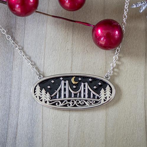 Bridge Night Sky Necklace