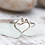 Thumbnail: BIRTHSTONE Sterling Bridge to Her Heart  Tower Ring