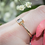 Thumbnail: Emerald Cut Diamond Ring in Yellow Gold