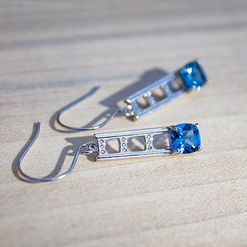Mackinac Bridge Tower Earrings