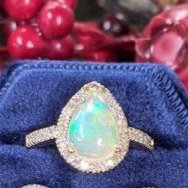 Teardrop Opal Ring
