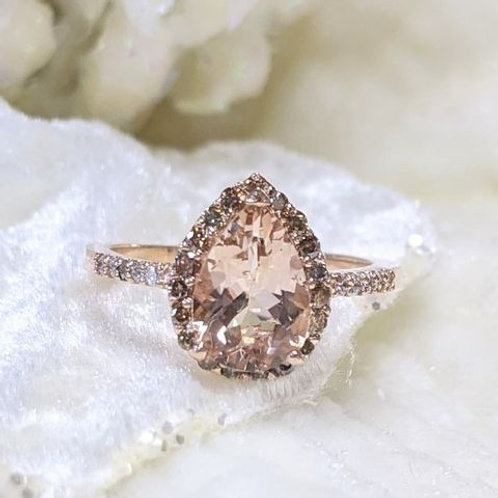 Malia Morganite Rose Gold Ring