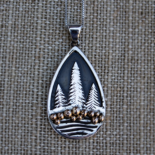 Pebbles by the Stream Necklace