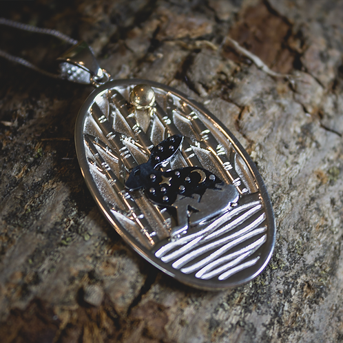 Rabbit in the Woods Necklace