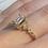 Thumbnail: 14kt Yellow Gold Moissanite and Diamonds