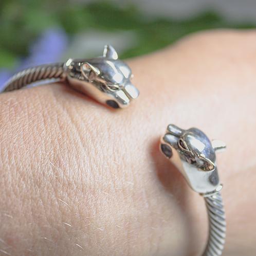 Sterling Silver Panther Bracelet