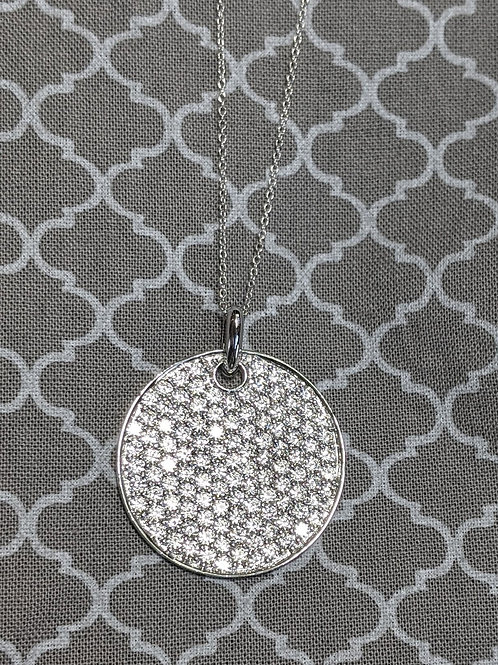 Arya Sterling Silver CZ Necklace