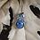 Thumbnail: Leland Blue Silver Leaf Necklace