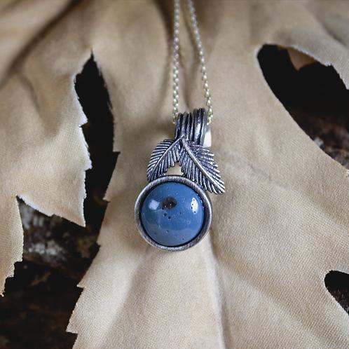 Leland Blue Silver Leaf Necklace
