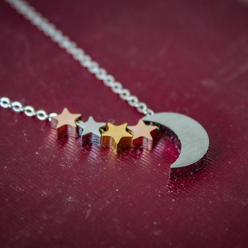Stainless Steel Moon & Stars