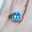 Thumbnail: Oval Swiss Blue Topaz Ring