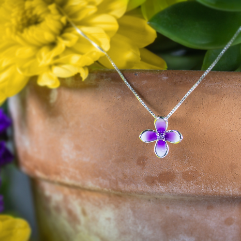 Sterling Silver Small Lilac Pendant