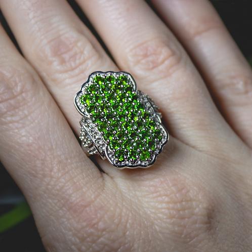 Green Garnet Ring