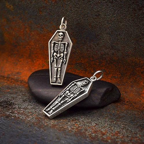 Skeleton Coffin Necklace
