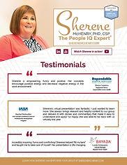 Testimonials- Dr. Sherene McHenry