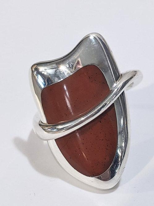 Jasper Ring in Sterling Silver