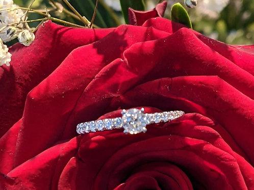 Yulia Platinum Diamond Ring