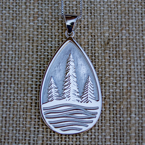 Evergreens by the Stream Necklace