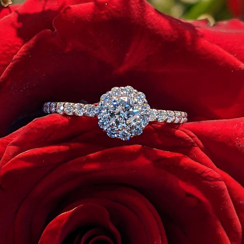 Karigan Halo Diamond Ring