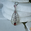 Thumbnail: Sterling Silver, Garnet and Pearl Necklace