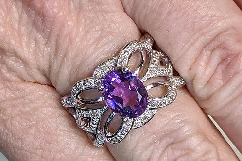 Amelia Diamond & Gemstone Ring