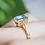 Thumbnail: Blue Topaz Christmas Tree Ring