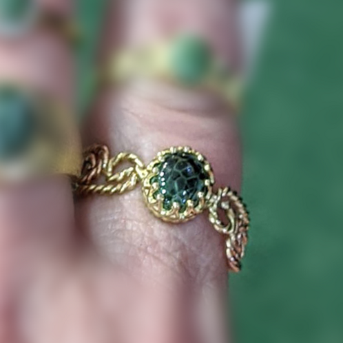 Greenstone Rope Ring