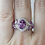 Thumbnail: Amethyst & Diamond Ring in Sterling Silver
