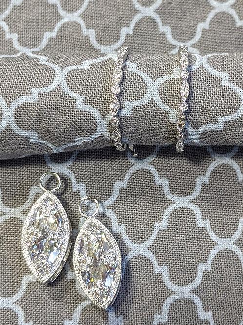 Nekolette Sterling Silver CZ Earrings